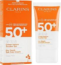Солнцезащитный крем для лица - Clarins Sun Care Dry Touch Face Cream SPF 50+ — фото N1