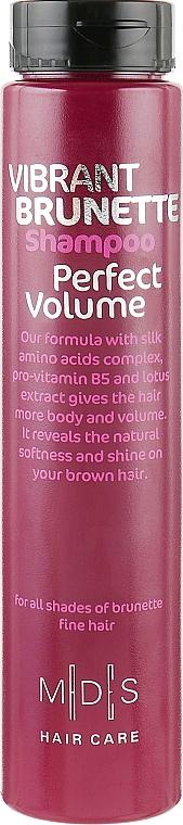 Шампунь «Идеальный объем. Жгучая брюнетка» - Mades Cosmetics Vibrant Brunette Perfect Volume Shampoo