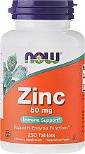 Духи, Парфюмерия, косметика Минералы Цинк Глюконат 50 мг в таблетках - Now Foods Zink Immune Support