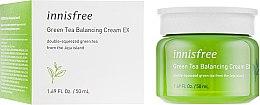 Духи, Парфюмерия, косметика Крем для лица для нормальной и комбинированной кожи лица - Innisfree Green Tea Balancing Cream EX