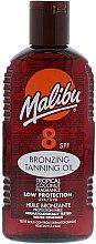 Духи, Парфюмерия, косметика Масло для тела с эффектом бронзового загара - Malibu Bronzing Tanning Oil with Tropical Coconut Fragrance SPF 8