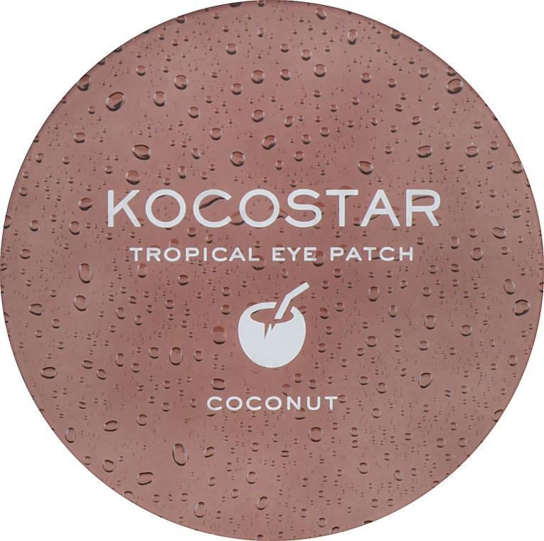 """Гидрогелевые патчи для глаз """"Тропические фрукты. Кокос"""" - Kocostar Tropical Eye Patch Coconut — фото N4"""