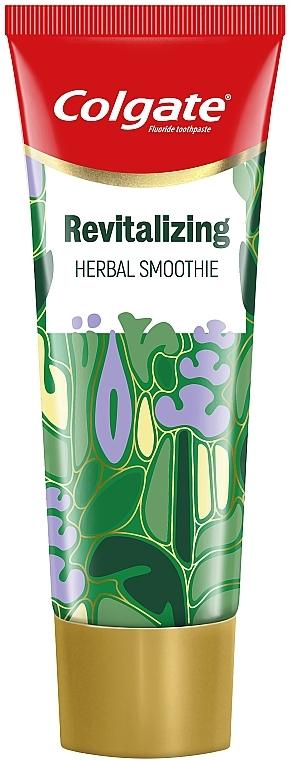 """Освежающая зубная паста """"Зеленый смузи"""" с нотками трав и древесным оттенком - Colgate Revitalizing Herbal Smoothie"""