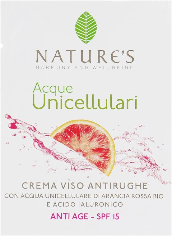 Крем антивозрастной для лица - Nature's Acque Unicellulari Anti-Aging Cream SPF 15 (пробник)