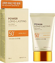 Солнцезащитный крем - The Face Shop Power Long-Lasting Sun Cream SPF50+ PA+++ — фото N1