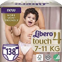 Духи, Парфюмерия, косметика Подгузники Touch 4 (7-11 кг), 138 шт - Libero