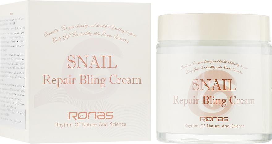 Восстанавливающий крем на основе муцина улитки - Ronas Snail Repair Bling Cream