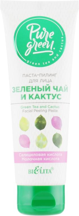 """Паста-пилинг для лица """"Зеленый чай и кактус"""" - Bielita Pure Green"""