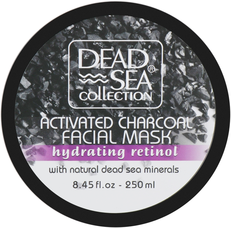 Маска для лица с углем и ретинолом - Dead Sea Collection Activated Charcoal Facial Mask with Retinol