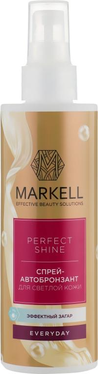 Спрей-автобронзант для светлой кожи - Markell Cosmetics Everyday Perfect Shine