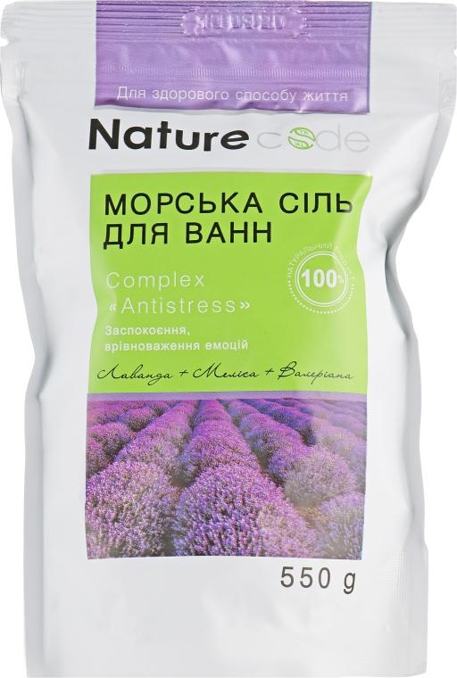 Морская соль для ванн - Nature Code Antistress