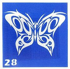Духи, Парфюмерия, косметика Трафарет для боди-арта, 6х6 см, 28 - Biofarma