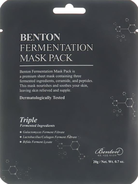 Маска с ферментированными компонентами и пептидами - Benton Fermentation Mask Pack