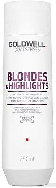 Шампунь против желтизны для осветленных волос - Goldwell Dualsenses Blondes&Highlights
