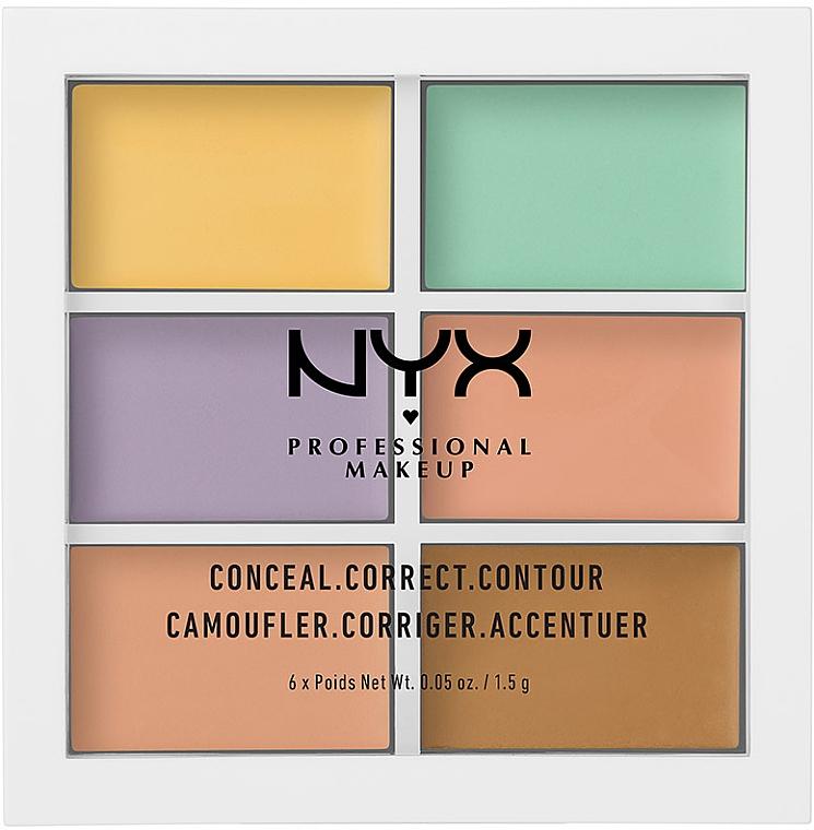 Цветная палитра корректирующих средств - NYX Professional Makeup Color Correcting Palette