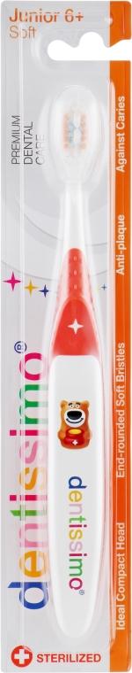 Зубная щетка для детей от 6 лет, оранжевая - Dentissimo Junior