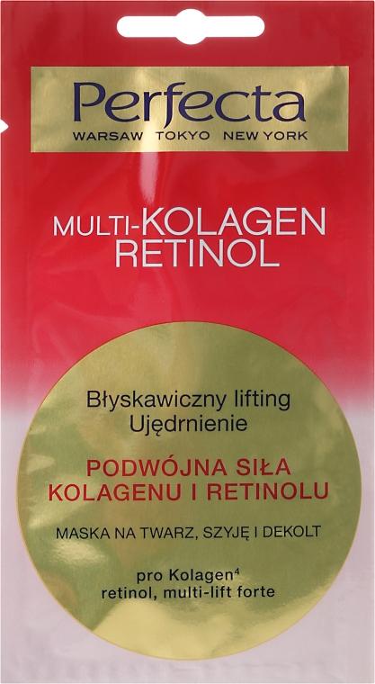Маска для лица, шеи и декольте - Perfecta Multi-Kolagen Retinol
