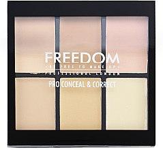 Духи, Парфюмерия, косметика Палетка корректоров для лица - Freedom Makeup London Conceal & Correct Palette