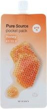Духи, Парфюмерия, косметика Ночная маска для лица с экстрактом меда - Missha Pure Source Pocket Pack Honey