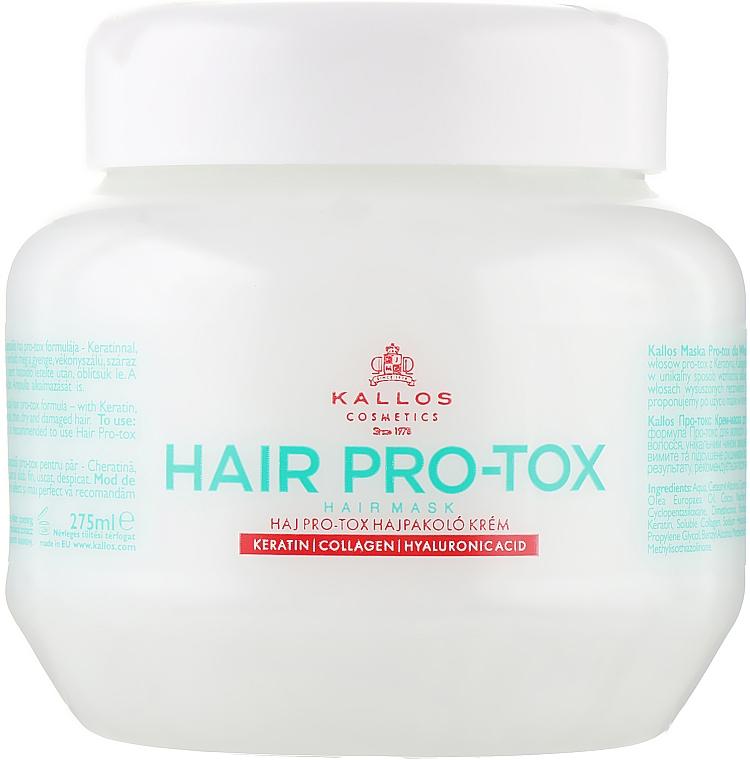 Маска для волос с кератином, коллагеном и гиалуроновой кислотой - Kallos Cosmetics Pro-Tox Hair Mask