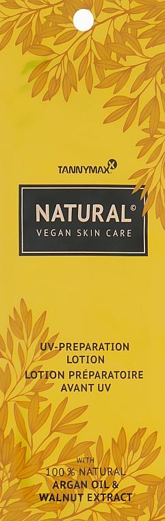Крем-ускоритель загара с натуральными бронзаторами и аргановым маслом - Tannymaxx Natural UV Preparation Lotion (пробник)