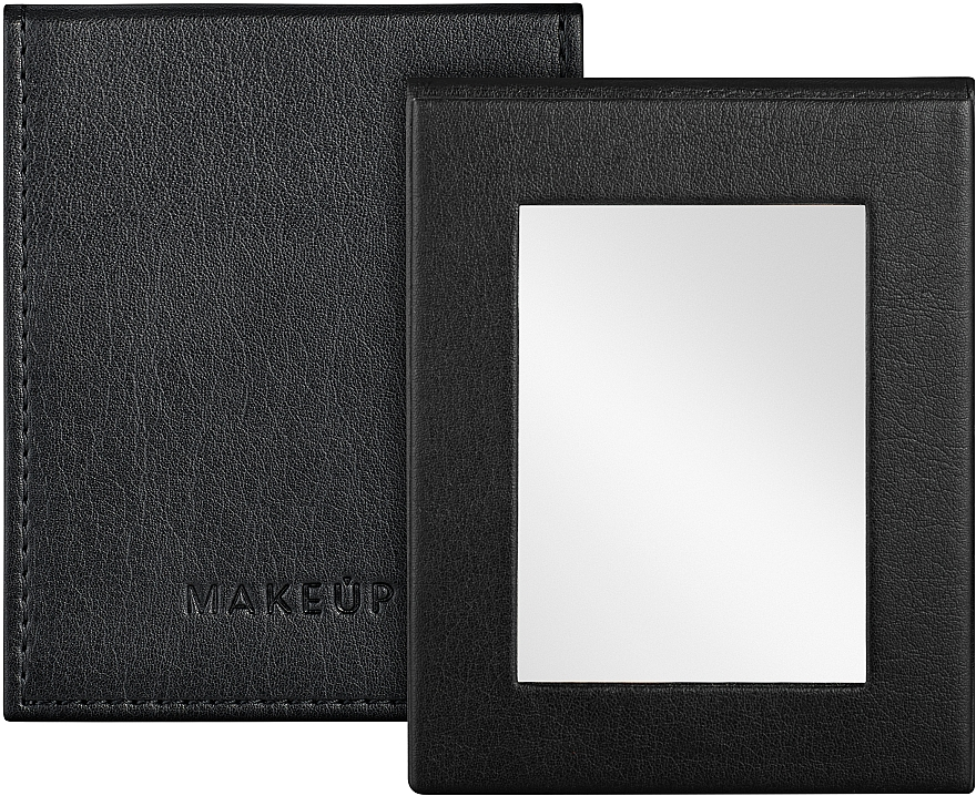 Зеркальце карманное раскладное, черное - MakeUp Pocket Mirror Black