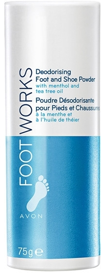 Дезодорант-тальк для ног - Avon Foot Works Deodoring Foot and Shoe Powder