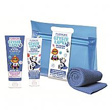 Духи, Парфюмерия, косметика Набор - Floslek Super Boy Antibacterial Hygienic Hand (h/gel/50ml + h/soap/75ml + bag + towel)
