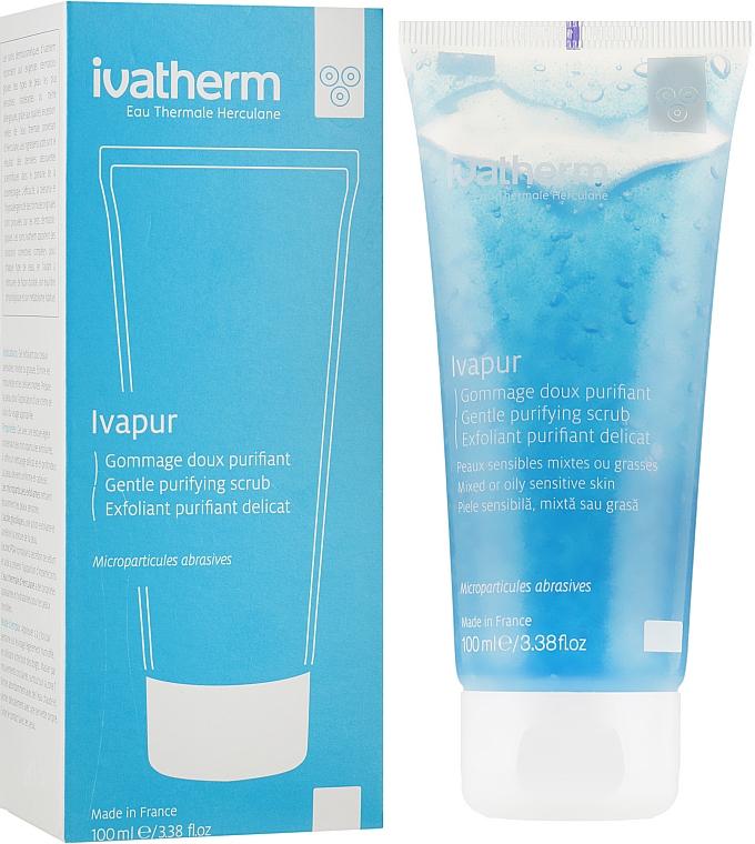 Нежный очищающий гель-эксфолиант для жирной и чувствительной кожи лица - Ivatherm Ivapur Exfoliating Gel