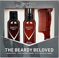 Духи, Парфюмерия, косметика Набор - Men Rock The Beardy Beloved Starter Nourishing Set (b/balm/100ml + b/soap/100ml + comb/1pcs)