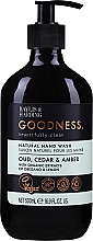 Парфумерія, косметика Рідке мило для рук - Baylis & Harding Goodness Oud, Cedar & Amber Natutal Hand Wash