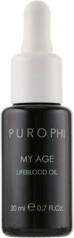 Антивікова олія-енергетик для зрілої шкіри - Purophi My Age Lifeblood Oil — фото N2