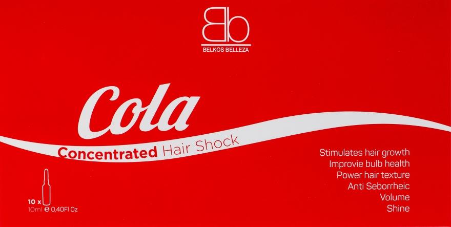 "Ампулы для волос ""Кола"" - Belkos Belleza Hair Cola Shock Concentrated"