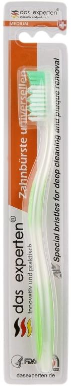 Зубная щетка средней жесткости, салатовая - Das Experten Universellern