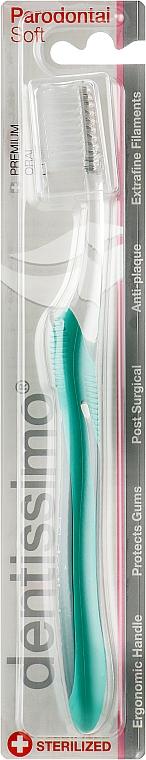 """Зубная щетка с мягкой щетиной """"Parodontal"""", зеленая - Dentissimo"""