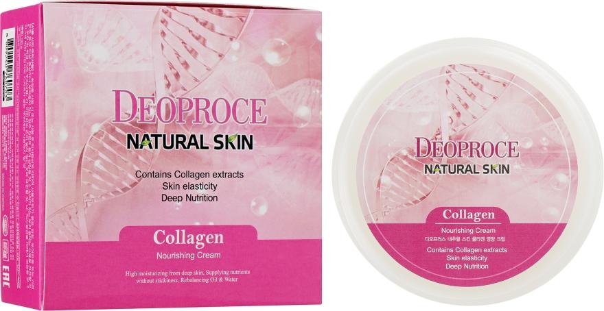 Антивозрастной регенерирующий крем для лица с Коллагеном, Гиалуроновой кислотой и Витамином Е - Deoproce Natural Skin Collagen Nourishing Cream — фото N1