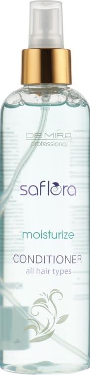 Спрей-кондиционер для всех типов волос увлажняющий - Demira Professional Saflora Moisturize