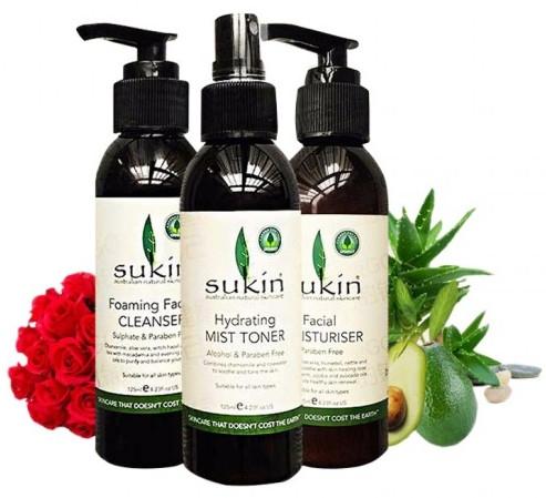 Набор - Sukin Love Your Skin Original (toner/125ml + cr/125ml + foam/125ml)