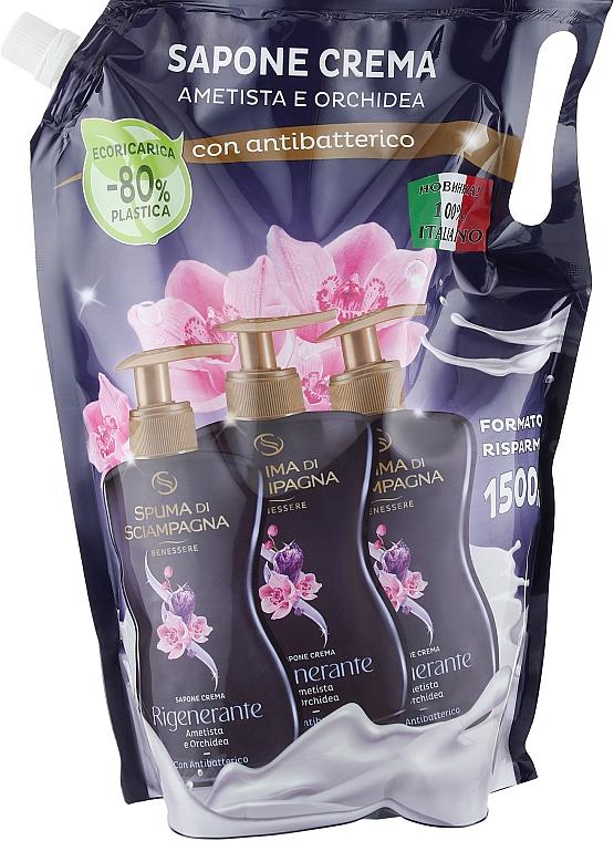Антибактериальное жидкое мыло для рук и лица - Spuma di Sciampagna Antibacterial Liquid Soap Amethyst & Orchid