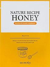 "Духи, Парфюмерия, косметика Маска для лица тканевая ""Nutrition & Smooth"" - Secret Key Nature Recipe Honey"
