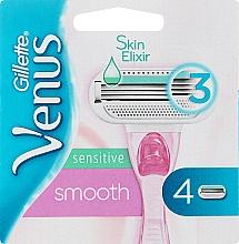 Духи, Парфюмерия, косметика Сменные кассеты для бритья, 4 шт. - Gillette Venus Smooth Sensitive Pink