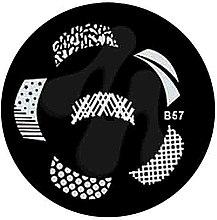 Духи, Парфюмерия, косметика Диск для стемпинга, B-57 - Nails Molekula
