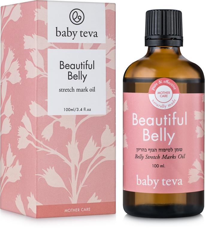 Массажное масло для ухода за кожей живота во время и после беременности - Baby Teva Belly Oil Fresh Massage Oil