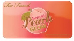 Палетка для скульптурирования лица - Too Faced Sweet Peach Glow Peach-Infused Highlighting Palette — фото N2