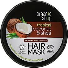 Духи, Парфюмерия, косметика Маска для волос - Organic Shop Coconut & Shea Moisturising Hair Mask