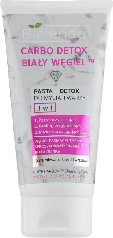 """Паста для умывания """"Белый уголь"""" 3 в 1 - Bielenda Carbo Detox Paste"""