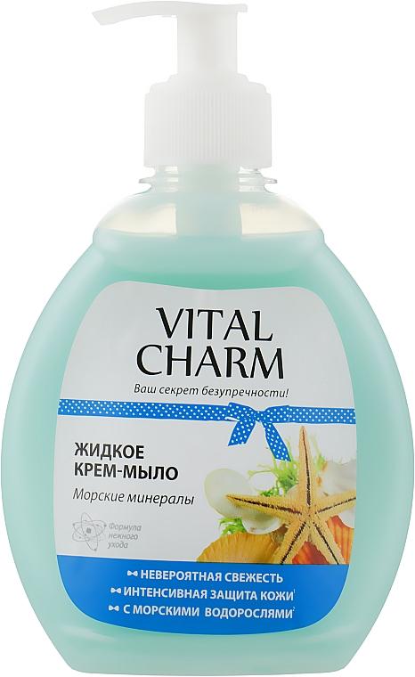 """Жидкое крем мыло """"Морские минералы"""" - Vital Charm"""