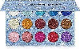 Духи, Парфюмерия, косметика Профессиональная палитра глиттерных теней 15 цветов, GL15 - Make Up Me
