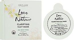 Духи, Парфюмерия, косметика Очищающая маска для лица с рисом и белым чаем - Oriflame Love Nature Clarifying Clay Mask