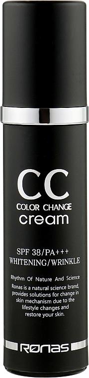 СС крем для лица отбеливающий антивозрастной - Ronas CC Cream SPF38 PA+++